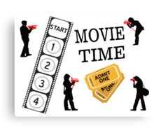 Come One Come All It's Movie Time Canvas Print
