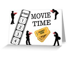 Come One Come All It's Movie Time Greeting Card
