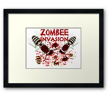 Invasion Of The Zombees Framed Print