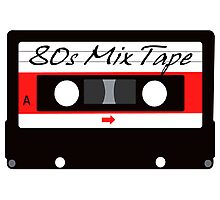 80s Music Mix Tape Cassette Photographic Print