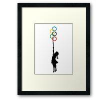 Olympic Dreaming - Banksy tribute Framed Print