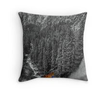 Misty view in colorized grey Throw Pillow