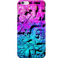 Aztec city  in cyan Colors iPhone Case/Skin
