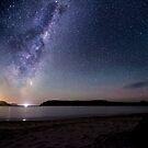 Moon Rise Tasman Island  by Robert-Todd