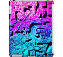 Aztec city  in cyan Colors iPad Case/Skin