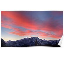 Cascading sunset in widescape Poster