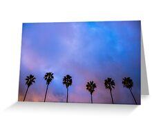 California Palm Trees Greeting Card