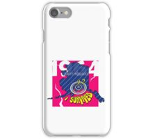"""CRACKED EARTHQUAKE ~ """"I SURVIVED"""" iPhone Case/Skin"""