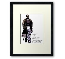 Omar Little Framed Print
