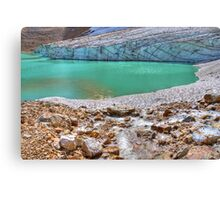 Cavell Glacier and Cavell Pond Canvas Print