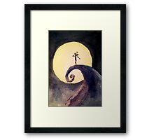 Nightmare Before Christmas Moon Framed Print