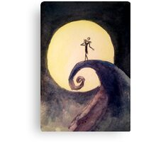 Nightmare Before Christmas Moon Canvas Print