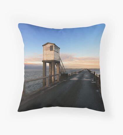 Lindisfarne Causeway Throw Pillow