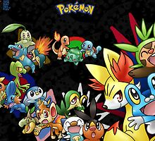 Every Single Starter Pokemon by Yuririi