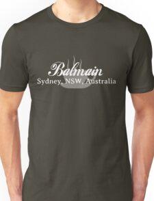 Balmain Coffee (white text) Unisex T-Shirt