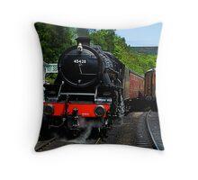 Grosmont Railway Station Throw Pillow