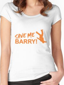 Save Me Barry! Women's Fitted Scoop T-Shirt