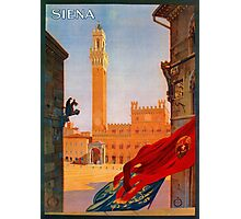 Vintage Siena Italian travel advertising Photographic Print