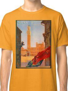 Vintage Siena Italian travel advertising Classic T-Shirt