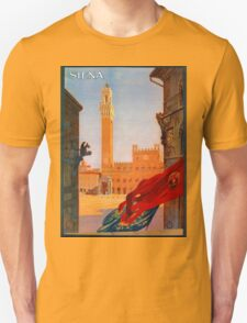Vintage Siena Italian travel advertising Unisex T-Shirt