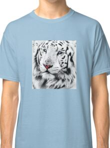 White Tiger Portrait Classic T-Shirt
