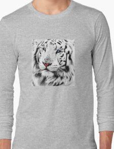White Tiger Portrait Long Sleeve T-Shirt