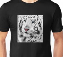 White Tiger Portrait Unisex T-Shirt