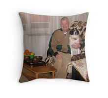 Dennis and Patrick at Home Throw Pillow