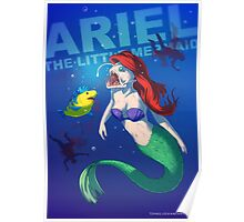 Ariel the little mermaid BADASS Poster
