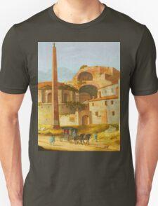 Ruin Building and spire landscape Unisex T-Shirt