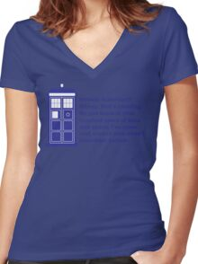Nobody Important Dr. Who deisgn. Women's Fitted V-Neck T-Shirt
