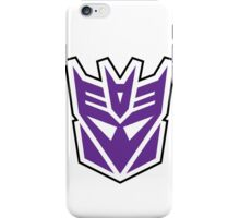 decepticon - purple iPhone Case/Skin