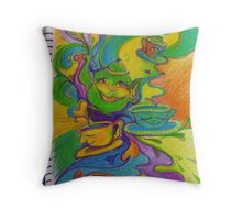 the infinite possibility for joy in sharing a cup of tea with a good friend Throw Pillow
