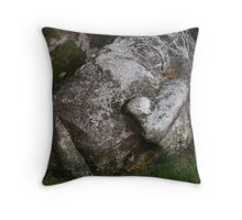 Stone Carving Throw Pillow