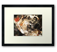 A Hex On You (Specularite on Quartz) Framed Print