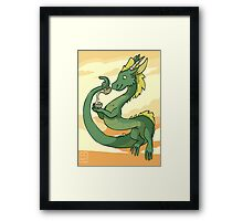 Green-Tea Dragon Framed Print