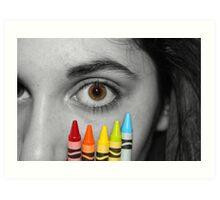 Coloring Vision Art Print