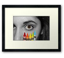 Coloring Vision Framed Print