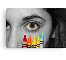 Coloring Vision Canvas Print
