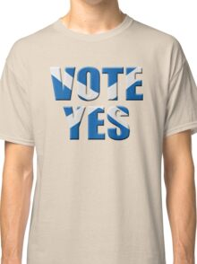 Scottish flag Vote yes - Scottish independence referendum Classic T-Shirt