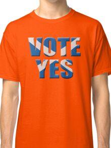Scottish flag Vote yes - Scottish independence referendum Classic T-Shirt