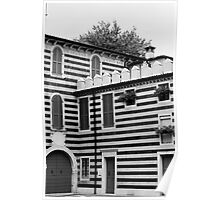 Italian Stripy Building Poster