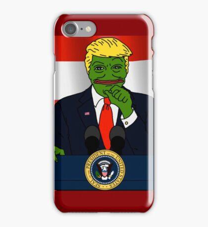 President Donald 'Pepe' Trump the Smug Frog iPhone Case/Skin