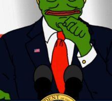 President Donald 'Pepe' Trump the Smug Frog Sticker