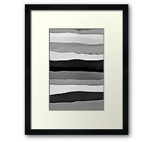 Abstract Shaded Layers Framed Print