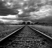 Storm Over The Railway by Alex Wagner
