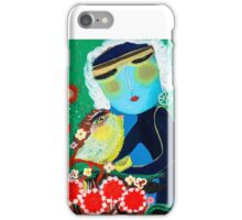 Girl with bird iPhone Case/Skin