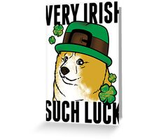 Doge St. Pattys Day Greeting Card