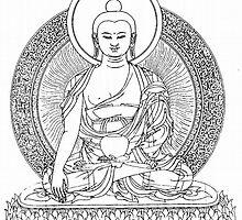 Buddha Line Art Buddhist Zem Om Peace by juliazook