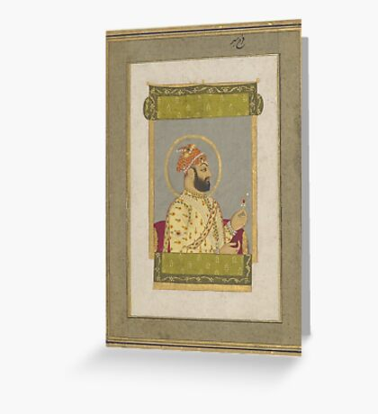 Asian Miniatures - portrait - jewel King picture  Greeting Card